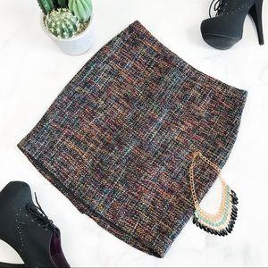 Ann Taylor LOFT Retro Tweed Pencil Skirt